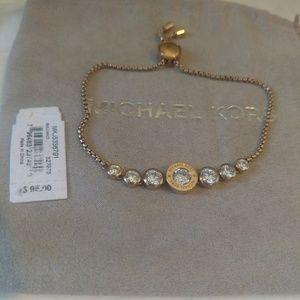 Michael Kors Rose Gold Adjustable Slider Bracelet